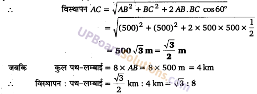 UP Board Solutions for Class 11 Physics Chapter 4 Motion in a plane 10