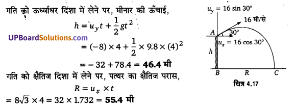 UP Board Solutions for Class 11 Physics Chapter 4 Motion in a plane 72