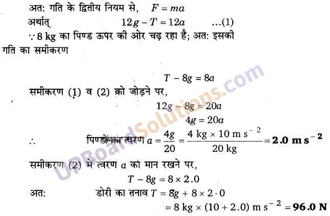 UP Board Solutions for Class 11 Physics Chapter 5 Laws of motion 20