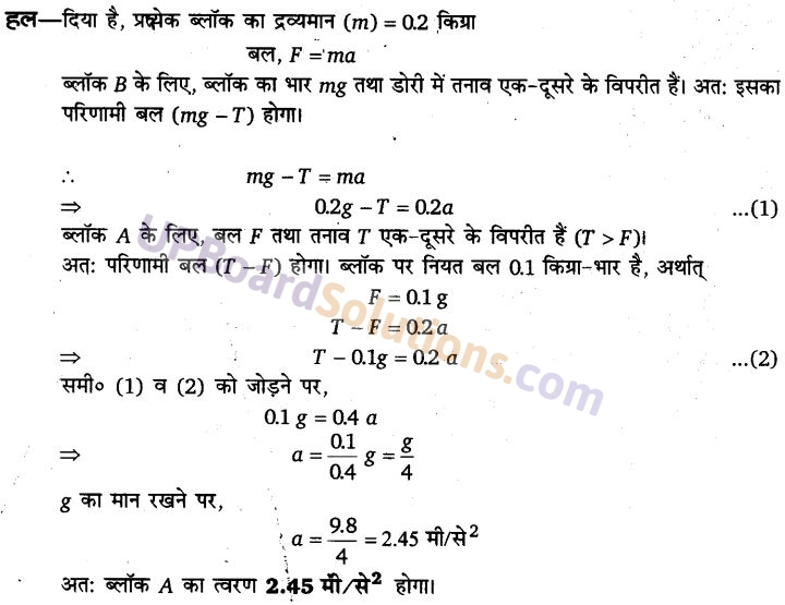 UP Board Solutions for Class 11 Physics Chapter 5 Laws of motion 78