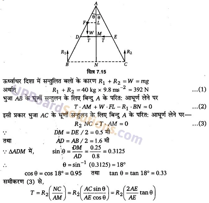 UP Board Solutions for Class 11 Physics Chapter 7 System of particles and Rotational Motion 33