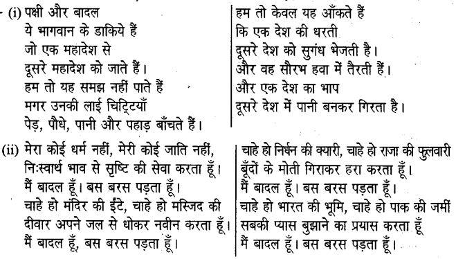 UP Board Solutions for Class 6 Hindi Chapter 17 बादल चले गए वे (मंजरी) 1
