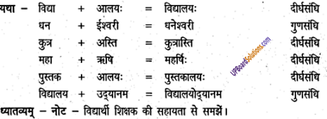 UP Board Solutions for Class 6 Sanskrit Chapter 5 मम विद्यालयः (दीर्घसन्धिः गुणसन्धिश्च) 2