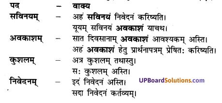 UP Board Solutions for Class 7 Hindi Chapter 5 प्रार्थनापत्रम् (अनिवार्य संस्कृत) image - 1