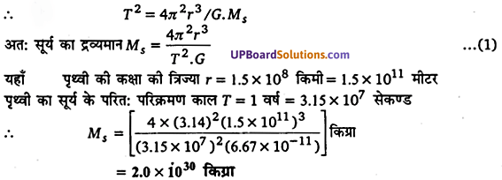 UP Board Solutions for Class 11 Physics Chapter 8 Gravitation 7