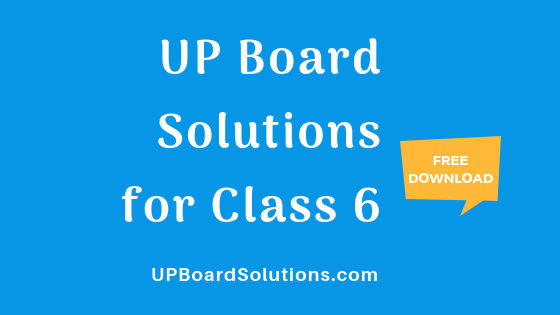 UP Board Solutions for Class 6