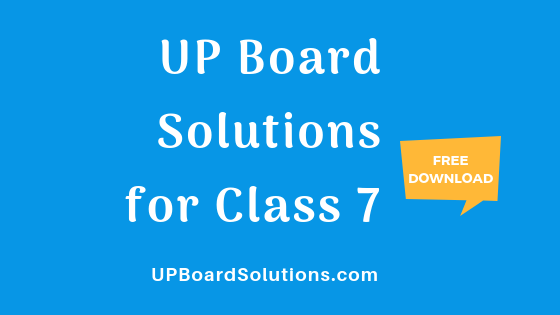 UP Board Solutions for Class 7