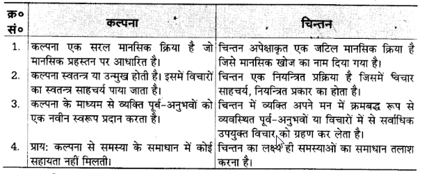 UP Board Solutions for Class 12 Psychology Chapter 5 Thinking 1