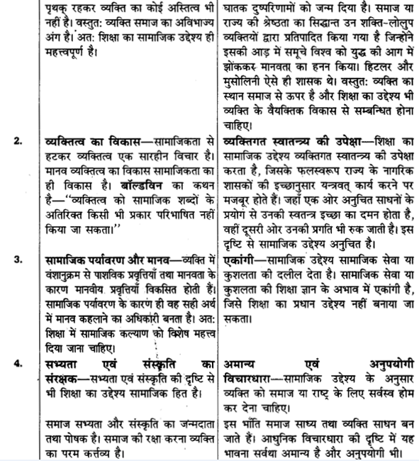 UP Board Solutions for Class 11 Pedagogy Chapter 3 Aims of Education 8