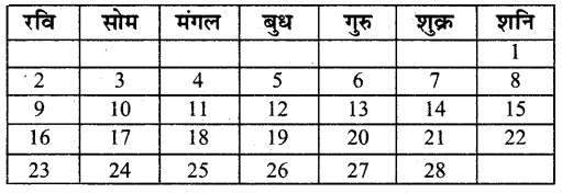 UP Board Solutions for Class 4 Maths गिनतारा Chapter 17 कैलेण्डर 1