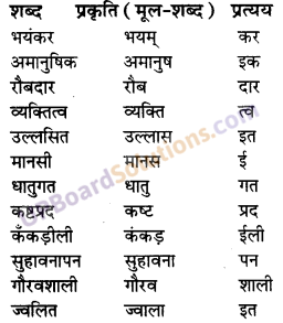 UP Board Solutions for Class 10 Hindi प्रत्यय img-1