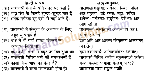 UP Board Solutions for Class 10 Hindi Chapter 1 वाराणसीः (संस्कृत-खण्ड) img-1
