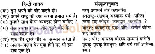 UP Board Solutions for Class 10 Hindi Chapter 3 वीरः वीरेण पूज्यते (संस्कृत-खण्ड) img-1