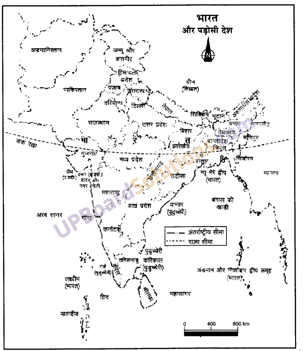 UP Board Solutions for Class 9 Social Science Geography Chapter 1 भारत-आकार एवं स्थिति