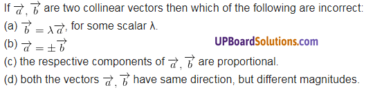 UP Board Solutions for Class 12 Maths Chapter 10 Vector Algebra