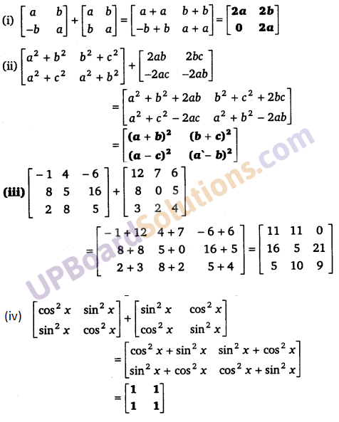 UP Board Solutions for Class 12 Maths Chapter 3 Matrices image 16