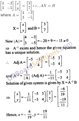 UP Board Solutions for Class 12 Maths Chapter 4 Determinants image 125