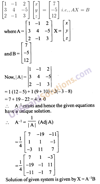 UP Board Solutions for Class 12 Maths Chapter 4 Determinants image 134