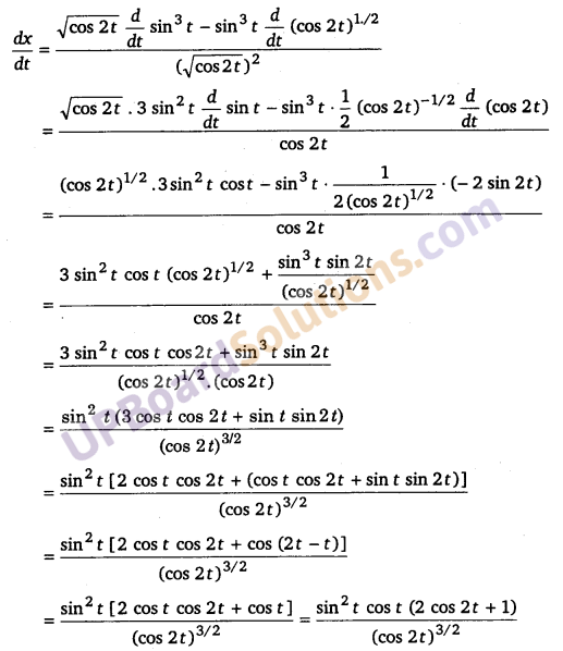 UP Board Solutions for Class 12 Maths Chapter 5 Continuity and Differentiability image 164