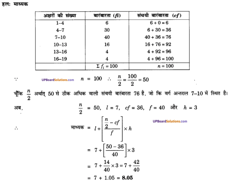 UP Board Solutions for Class 10 Maths Chapter 14 Statistics img 19