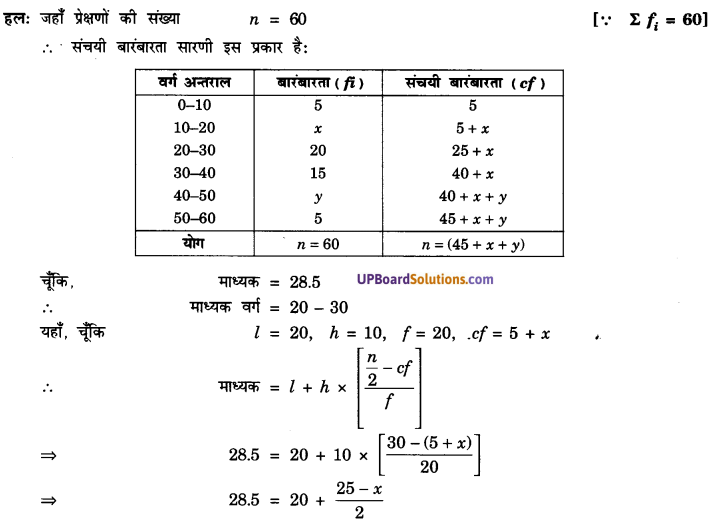 UP Board Solutions for Class 10 Maths Chapter 14 Statistics img 7