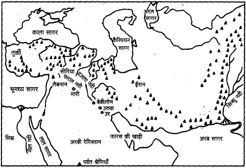 UP Board Solutions for Class 11 History Map Related Questions image 2