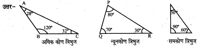UP Board Solutions for Class 6 Maths Chapter 13 त्रिभुज 13a 3