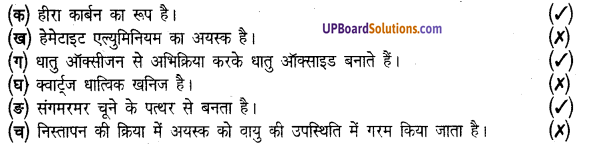 UP Board Solutions for Class 8 Science Chapter 4खनिज एवं धातु img-1